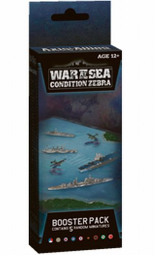 - Axis and Allies Naval Miniatures War at Sea Condition Zebra Booster Pack Game Expansion