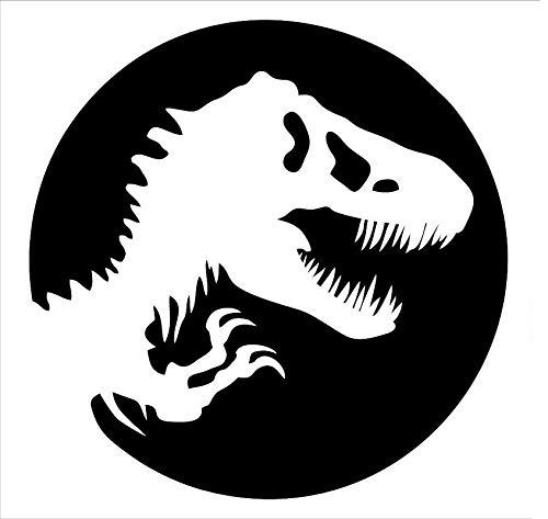 - CCI Dinosaur Skeleton Juarassic World Decal Vinyl Sticker|Cars Trucks Vans Walls Laptop|White|5.5 x 5.5 in|CCI2145