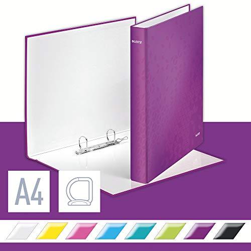 Leitz WOW - Carpeta de anillas plastificada, A4, Violeta, 1 unidad