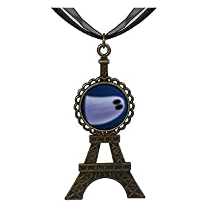 Chicforest Bronze Retro Style Halloween ghost Eiffel Pendant