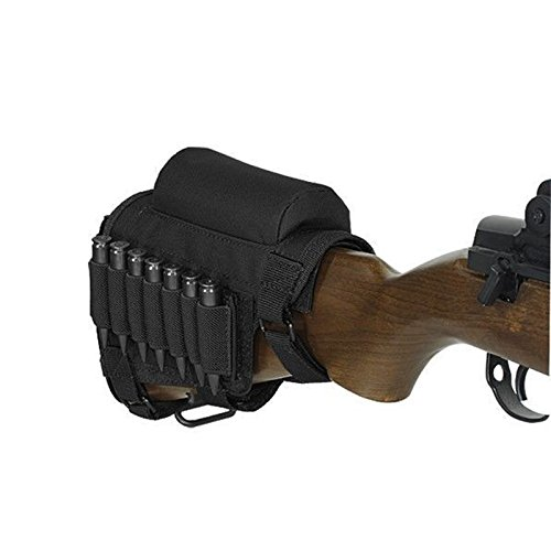 YB Tactical Buttstock Cheek Rest with Ammo Carrier Case Holder for .308 .300 Winmag Black Color by YB (Image #6)