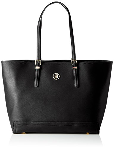 Tommy Hilfiger Honey EW Tote Solid, Borse Tote Donna Nero (Black)