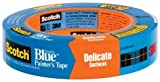 36 Pack 3M 2080-1A 1'' x 60-yd Scotch-Blue Safe-Release Painters Tape for Delicate Surfaces
