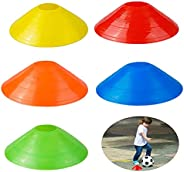 20 Pcs Soccer Disc Cones,Training Marker Cones,Used for Football Field Markings,5 Colors,19x5 cm