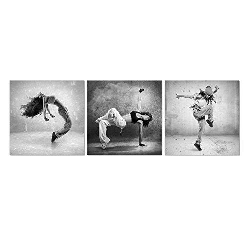 Dance Art Print - Furinno Senia 3-Panel MDF Framed Photography Triptych Print, 48