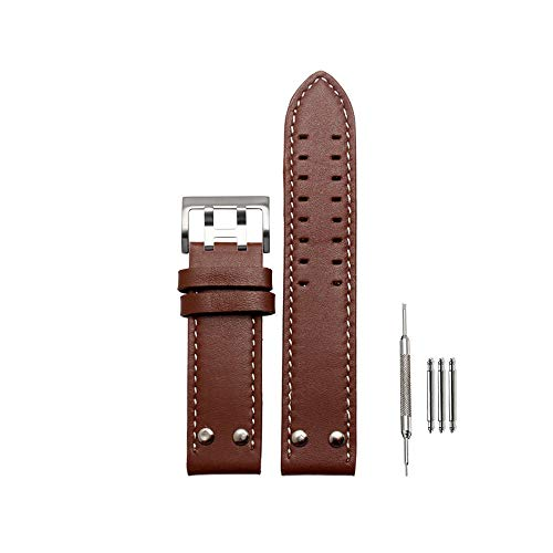 22mm Watch Band Suitable for Hamilton Watches for Men&Women (22mm, Brown) (Lady Hamilton Watch)