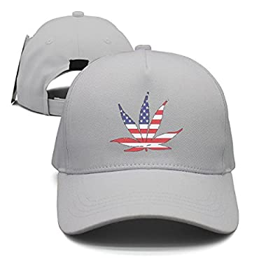 American Flag Pot Leaf Marijuana Freedom Colorful Cool Snapback Cap Baseball Trucker Hats