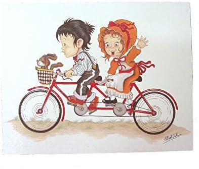Cuadro Tabla Deportes Infantil NIÑOS Dibujos Bicicleta Tandem ...