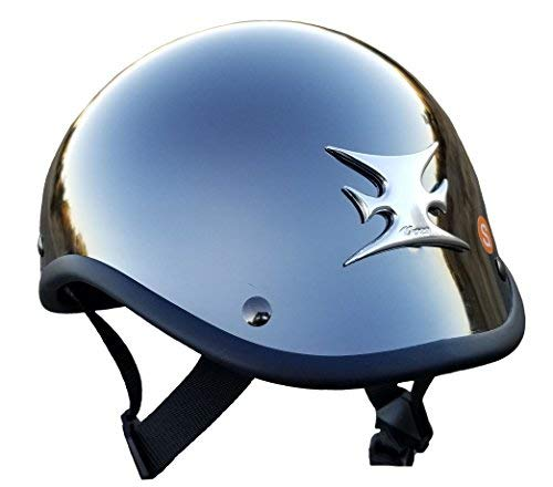 Chrome Gladiator Helmet with Iron cross/Maltese cross (xx large) (1)