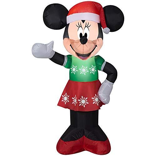 Minnie Mouse Inflatable - Gemmy Inflatable Minnie Mouse in Green