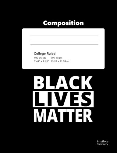 Search : Black Lives Matter College Ruled Composition Book Notebook