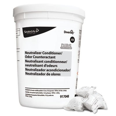 Diversey 917048 DIBS Neutralizer, Commercial-Strength Diversey DIBS Floor Neutralizer Cleaner Packets,
