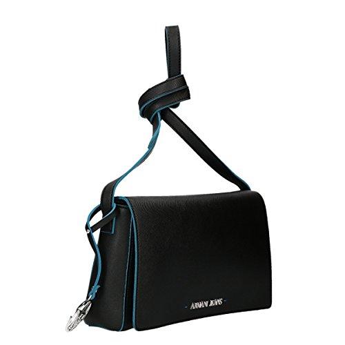 Armani Jeans Saffiano Negro Contraste Ajuste Cruz-cuerpo Black Leather