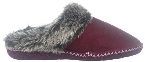 5e02b045d44 Floopi Womens Indoor Outdoor Aztec Two Tone Fur Lined Clog Slipper W Memory  Foam