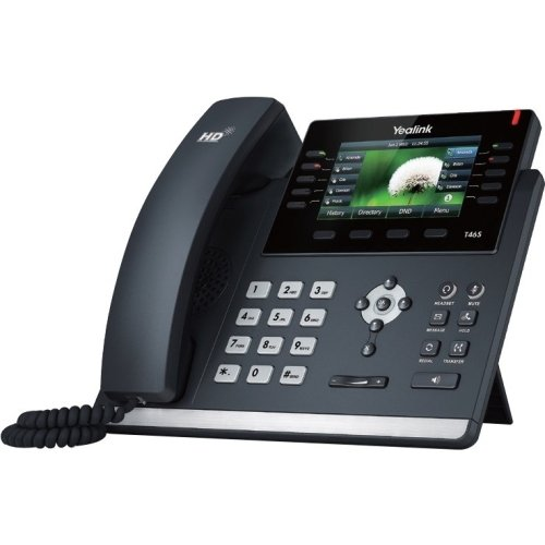 Yealink SIP-T46S IP Phone, 16 Lines. 4.3-Inch Color Display. Dual-Port Gigabit Ethernet, 802.3af PoE, Power Adapter Not ()