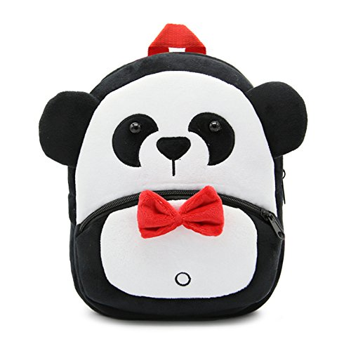 Cute Toddler Backpack Toddler Bag Plush Animal Cartoon Mini Travel Bag for Baby Girl Boy 1-6 Years (Panda) ()