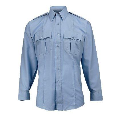 - Elbeco Men's Paragon Plus Long Sleeve Uniform Shirt - Light Blue, Neck 17.0, Sleeve 34/35