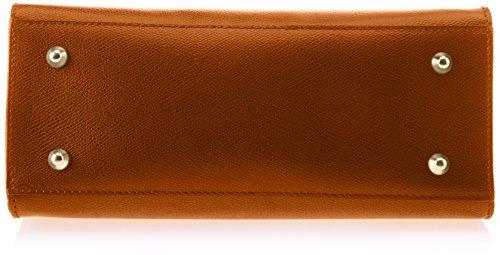 Chicca Borse 8844, Borsa a Spalla Donna, 28x22x12 cm (W x H x L) Marrone (Cuoio)