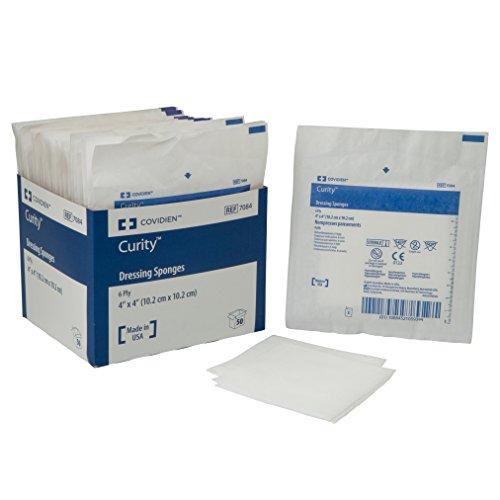 (Covidien 7084 Curity Dressing Sponge, Sterile 2's in Peel-Back Package, 4