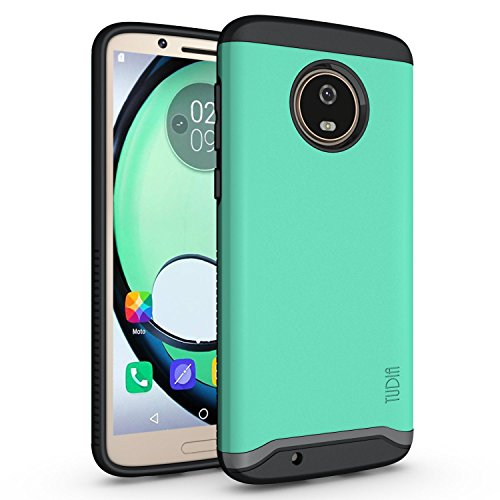 Rubberized Protective Shield - Motorola Moto G6 Case, TUDIA Slim-Fit Heavy Duty [Merge] Extreme Protection/Rugged but Slim Dual Layer Case for Motorola Moto G6 (Mint)