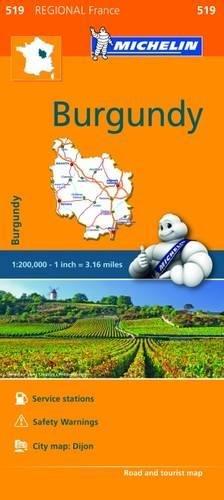 Michelin Regional Maps: France: Burgundy Map 519 (Michelin Regional France)