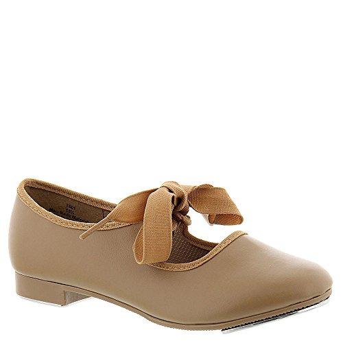 Dance Class T601 Beginner Tap Shoe (Toddler/Little Kid/Big Kid),Camel,1.5 M US Little Kid