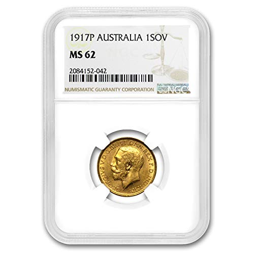 1917 AU P Australia Gold Sovereign George V MS-62 NGC Gold MS-62 NGC (Coin Gold Dragon Set)