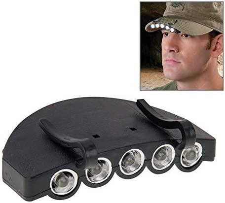CLIP 5 LED. LAMPE FRONTALE