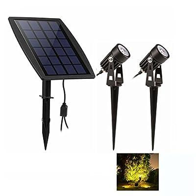 SOLAR STATION Solar Lights Outdoor,2 in 1 Solar Spotlights Waterproof Solar Powered Landscape Lights for Garden,Yard,Tree,Pathway (Warm White)
