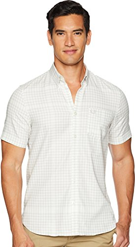 Fred Perry Gingham Shirt - Fred Perry Men's Distorted Gingham Shirt, Ecru, Small