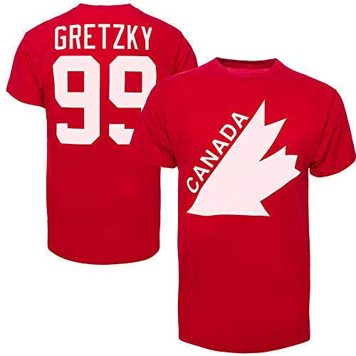 ('47 Team Canada Wayne Gretzky Vintage IIHF Alumni T-Shirt - Medium)
