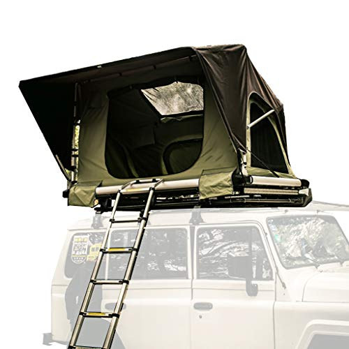 Roof Tent Camping ABS Car Tent, Soft Top Tent One Bedroom Hydraulic Helicopter with Aluminum Alloy Folding Ladder