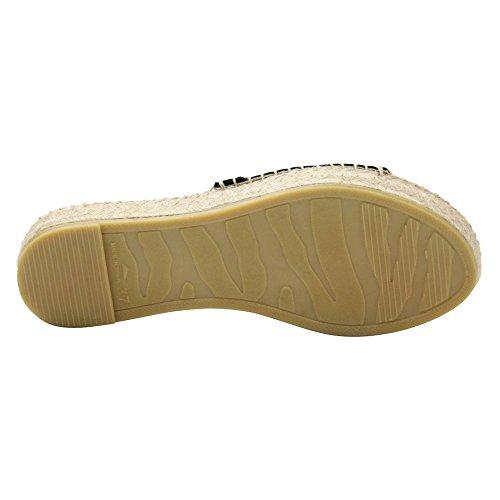 Andre Assous Sammy Plate-forme Sandale Noir Daim
