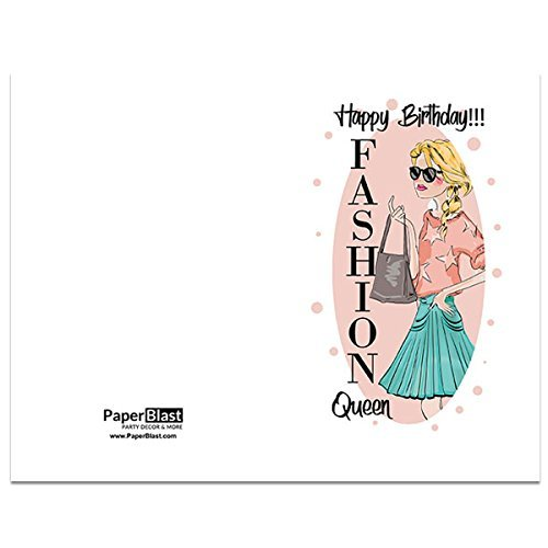Amazon Fashion Queen Birthday Card