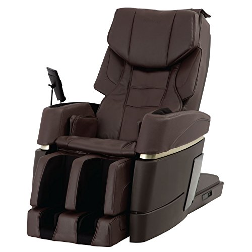 Kiwami 4D-970 Japan 4D Massage Chair w/ 3D Point Navigation System, Air Magic Massage, 3 Types of Whole Body Stretch Course, 5 Types of Leg Stretch Course, Heat on Back and Foot, Brown Finish