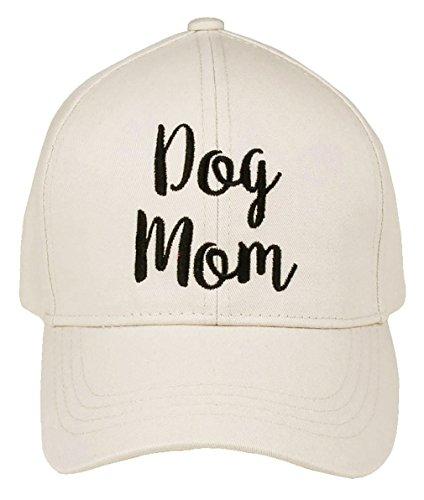 H-2018-DM-60 Saying Baseball Cap - Dog Mom (Beige)