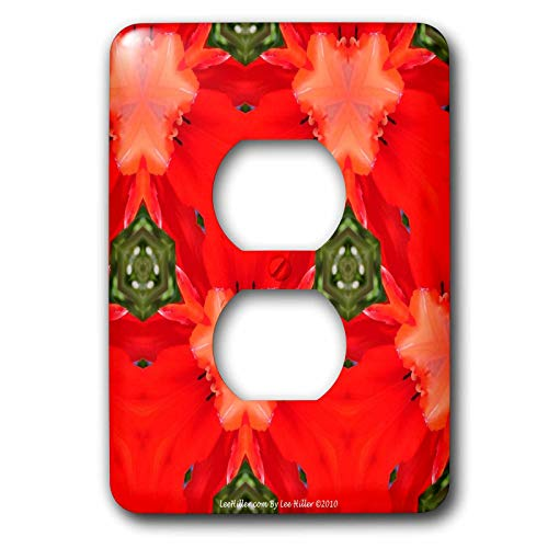 signs Kaleidoscope - Kaleidoscope Tulip Red - Light Switch Covers - 2 plug outlet cover (lsp_5796_6) ()