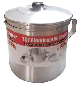 Benecasa Aluminium Oil Strainer/Dispenser, 1-Quart