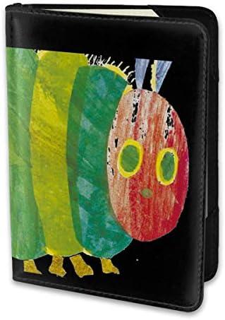 はらぺこあおむし 絵本 The Very Hungry Caterpillar パスポートケース メンズ レディース パスポートカバー パスポートバッグ 携帯便利 シンプル ポーチ 5.5インチ PUレザー スキミング防止 安全な海外旅行用 小型 軽便