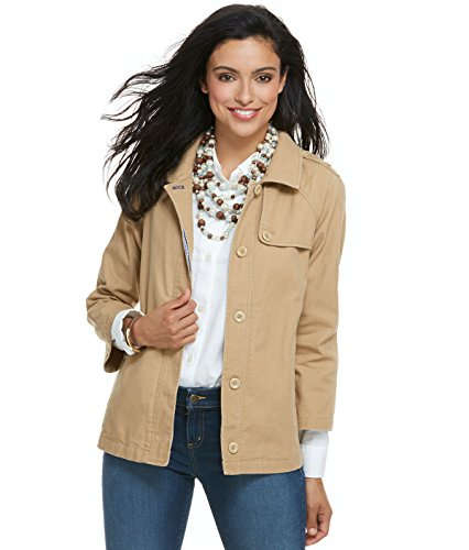 Vineyard Vines Women's Cotton Canvas Swing Trench Caramel (Vineyard Vines Canvas)