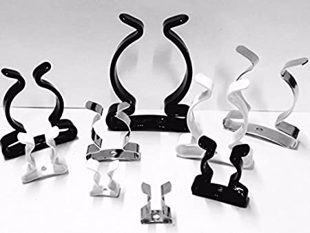 5 or 10 Pack Choice 3 Finishes UK Made Spring Clip CoatedClipCoUK 1//4 Terry Spring Tool Clips Open Type to Grip 6mm 5, Galvanised