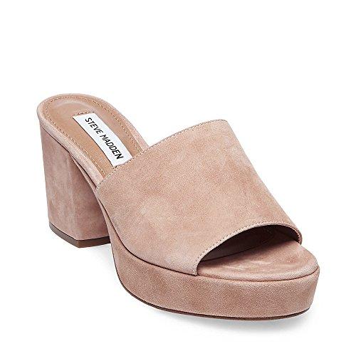 Steve Madden Women's Relax Sandal, Blush Suede, 8 M US