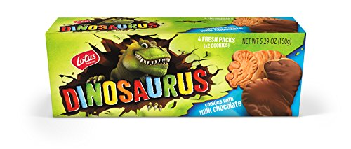 Lotus | Dinosaurus Milk Chocolate Cookies | 5.29 Ounce (12 Count) | 4 Two-Packs per Retail Pack | non-GMO + ()
