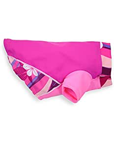 PlayaPup Sun Protective/Lightweight Dog Shirts, Plumeria Pink, X-Large