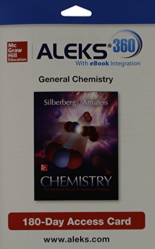 Aleks 360 Access Card  1 Semester  For Chemistry  The Molecular Nature Of Matter