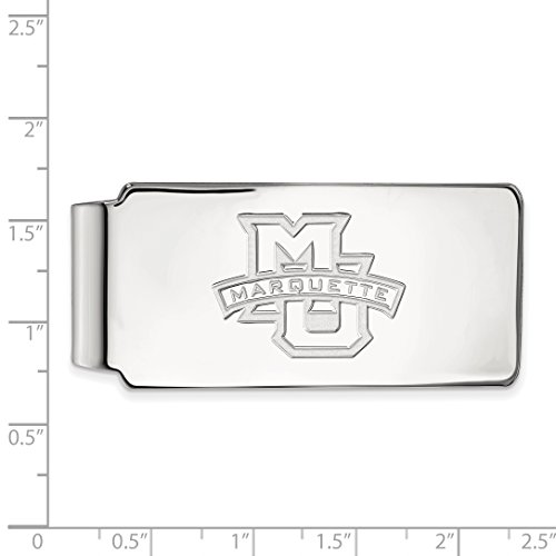 University Clip Official Silver Marquette Sterling MU Money Collegiate LogoArt Licensed wpq7UYF