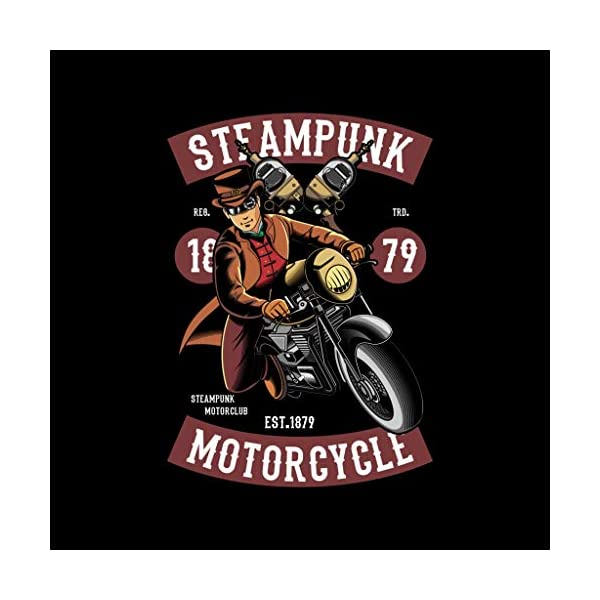 Coto7 Steampunk Motorcycle Kid's Hooded Sweatshirt 4