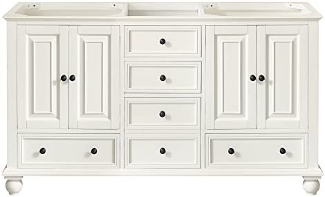 Avanity Thompson 60 in. Double Sink Vanity Only in French White finish
