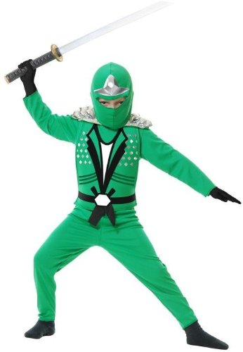 Ninja Avenger II with Armor, Green, Child Small