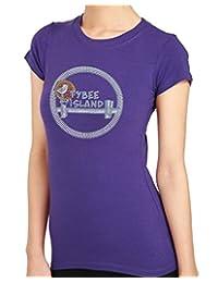 TYBEE ISLAND Bridge Rhinestone/stud Womens T-Shirts